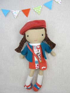 Studio Doll Zoe. Handmade Doll Eco Friendly Plush by ViolaStudio