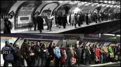 Más de medio siglo separan a estas dos imágenes del metro de Sol. Spain Images, Best Vibrators, History, Concert, Art, Gift, Metro Station, Vintage Photos, Old Photography
