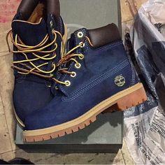 navy blue timberland boots ♥: