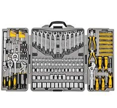 Mechanics Tool Set Household Tool Kit Set with Tools Box Case for Men and Women Hair Tool Organizer, Power Tool Storage, Fire Pit Accessories, Dewalt Tools, Bike Tools, Mechanic Tools, Hex Key, Tools And Equipment, Tool Set