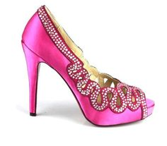 Christian Louboutin Crystaled Shoes Platform Pumps Pink ...... awesome!