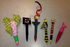 Paper Mache pens a High School or Middle School design project.