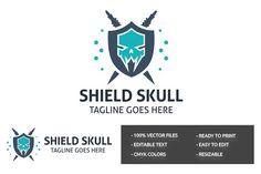 Shield Skull Logo by tkent on @creativemarket