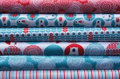 Brrr by Laurie Wisbrun, Fat Quarter Set in aqua on Etsy, $16.11 CAD