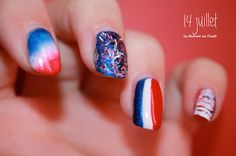 French National Day by diamant sur l'ongle
