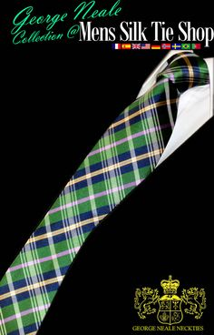 high quality plaid green and blue designer ties from the Mens Silk Tie Shop . We specialise in the most expensive looking designer ties in green and blue .