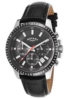 Rotary Men's Chronograph Black Genuine Leather and Dial - Watch GS00173-04,    #Rotary,    #GS0017304,    #WatchesFashionQuartz