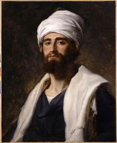 Pierre-Narcisse Guérin (1774-1833) : Portrait d'homme au Turban ou Portrait d'un membre de l'expédition d'Egypte
