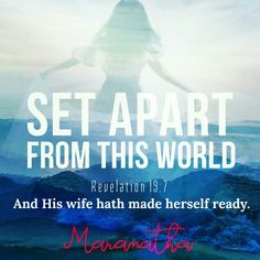 #MARANATHA #BrideOfChrist #WiseVirgins #Rapture is IMMINENT ❤  COME LORD JESUS, COME QUICK...  Revelation 19:7-9 (KJV)  Let us be glad and rejoice, and give honour to him: for the marriage of the Lamb is come, and his wife hath made herself ready. And to her was granted that she should be arrayed in fine linen, clean and white: for the fine linen is the righteousness of saints.  ( From : A Vision of the Bride of Christ -  HE IS COMING ! https://youtu.be/Ho8Xkq4VTEU )