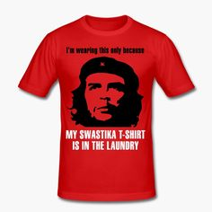 Just another Che Guevara t-shirt? The text can be understood in different ways. https://shop.spreadshirt.fi/revolt-noir/-A106482050