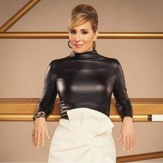 """Sonja Morgan was thrown out of a Philadelphia gay bar in the city's gay area known as the """"Gayborhood."""" Apparently, the Real Housewives o. Fall Fashion Outfits, Hot Outfits, Secretary Outfits, Leder Outfits, Leather Dresses, Black Girl Fashion, Latex Fashion, Ootd, Lady"""