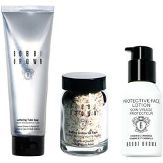 Bobbi Brown Skincare Set (€94) ❤ liked on Polyvore featuring beauty products, skincare, no color, bobbi brown cosmetics, anti aging skin care, anti aging skincare, antiaging skin care and travel size beauty products