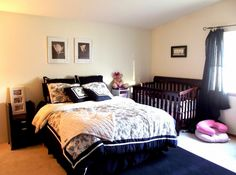 Shared spaces nursery in master bedroom laylagrayce nursery nurseries pinterest Master bedroom shared with nursery