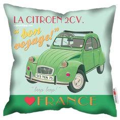 Citroen 2CV Deux Chevaux - Paperlollipop Art Cushions