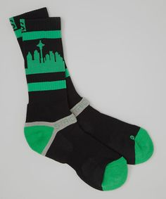 This Black & Green Seattle Socks - Boys by STRIDELINE is perfect! #zulilyfinds