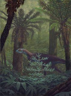Jurassic dinosaur by Douglas Henderson