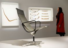 Earliest production, Eames Aluminum Group Chair, #eames #eameschair @vitra @barbicancentre Barbican's The World of Charles and Ray Eames exhibition