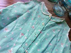 1930's Vintage Farmhouse Feed Sack Girl's Toddler Farm Dress ~ Attic Find Flour Sack Grain Sack