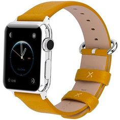 NEW Apple Watch Bands 42mm Calf Leather Strap Stainless Metal Clasp for iWatch #WatchBands