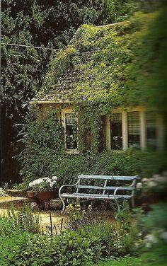 .Cozy corner of the garden
