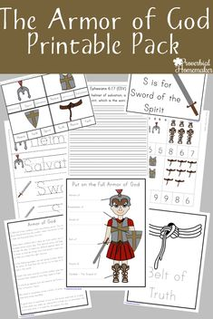 Your kids will love this armor of God printable pack! They will go through each part of the armor, learn what it means, and apply it to their lives! (Free one week only) Bible verses Bible Study For Kids, Bible Lessons For Kids, Kids Bible, Scripture Study, Armor Of God Lesson, Bible Activities, Preschool Bible, Rainbow Activities, Preschool Activities