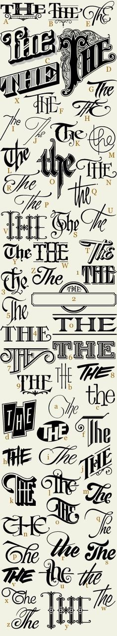 "The many ways to write the word ""the""."
