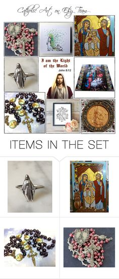 Religious Art on Etsy by TerryTiles2014 - Volume 212 by terrytiles2014 on Polyvore featuring arte, etsy, art, catholic and religious
