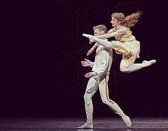 Elizabeth Harrod as Princess Stephanie throwing herself at Rupert Pennefather in Mayerling by Sir Kenneth MacMillan!