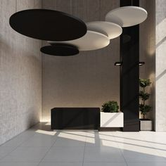 Polyester acoustic panel / for false ceilings / design / for public buildings CLASS Soundtect