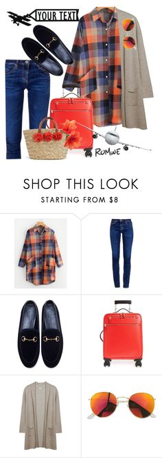 """""""Comfy flight"""" by fishshow ❤ liked on Polyvore featuring AG Adriano Goldschmied, Gucci and Serapian"""