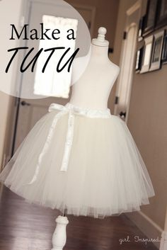 How to Make a Tutu Every girl wants to take a spin in a tutu at least once in their life. Learn how to make a tutu for twirling or lifting the skirt of a fancy dress. Sewing Hacks, Sewing Tutorials, Sewing Projects, Sewing Patterns, Tutorial Sewing, Diy Projects, Diy Clothing, Sewing Clothes, Dress Sewing