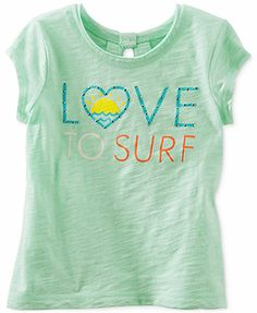 Osh Kosh Little Girls' Love To Surf Graphic Tee
