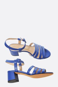 c7a464a15791 lapis calf low Palma heel sandals - size 37.5 and 38