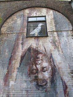 Artist: Borondo - Camden #streetart
