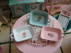 Dollhouse Miniature Shabby Chic Vintage by IttyBittyAndCute, $25.95