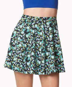 flower print skirt 95% cotton, 5% spandex