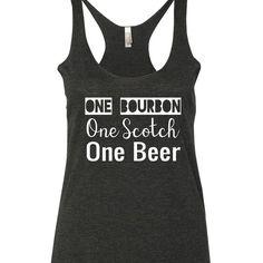 One Bourbon One Scotch One Beer Record Year Tank Top. XS-XXL. Eric Church Tank top. Eric Church Shirt. Country tank top. Country shirt. Southern Tank top. Country music Lyrics.