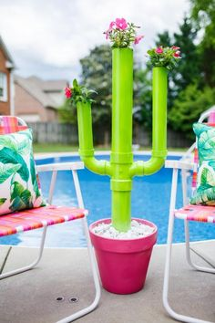 35 Creative DIY PVC Pipe Projects On a Budget. PVC might be an excellent scent storage tool. In summary, PVC isn't as strong as metal, but is frequently the ideal selection, especially whenever . Diy Planters Outdoor, Outdoor Crafts, Planter Ideas, Cactus Planters, Cactus Cat, Outdoor Decorations, Pvc Pipe Crafts, Pvc Pipe Projects, Diy Pipe