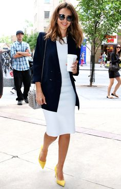 Jessica Alba's Latest Look Will Make You Want to Upgrade Your Work Wardrobe, Stat