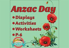 Anzac Day: Bundle of displays, activities and worksheets for Reading a – Splash Resources History Activities, History Education, Reading Activities, Kindergarten Activities, Preschool Ideas, Classroom Tools, Classroom Resources, Classroom Ideas, Teacher Notes