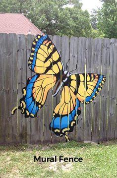 How Fencing Ideas Makes You a Better Garden Lover - Modern Design backyard design diy ideas Garden Fence Art, Garden Mural, Diy Fence, Backyard Fences, Backyard Ideas, Garden Crafts, Garden Projects, Garden Ideas, Outdoor Art