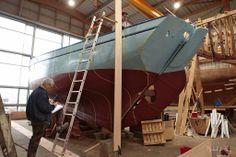 """Fin de restaurations du """"Saint-Guénolé"""" au Chantier du Guip, Port de Commerce de Brest"""