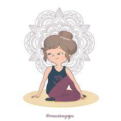 Ardha Matsyendrasana, mezza posizione di Matsyendra Half Lord of the Fishes Pose or Half Spinal Twist Pose 🙏 #ardhamatsyendrasana #mezzaposizionedimatsyendra #halflordofthefishes #halfspinaltwist #motivazione #yoga #meditazione #yogi #namaste #mindfulness #yogagirl #motivation #asana #yogini #yogapose #diarioyogaillustrato #yogaart #yogaillustration #miacarayogini #arteyoga #diarioyoga #arteyoga #inspiraespira #yogadoodle #yogaillustrators #mandala #om Fish Pose Yoga, Yoga Illustration, Cute Drawings, Back To School, Doodle, Disney Characters, Fictional Characters, Lord, Poses
