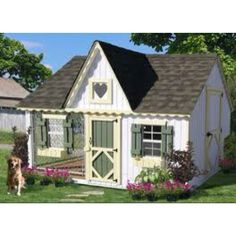 Little Cottage Company Victorian Cottage Kennel Dog House *** Check this awesome product by going to the link at the image. (This is an affiliate link and I receive a commission for the sales) Playhouse Kits, Build A Playhouse, Playhouse Decor, Dog Houses, Play Houses, Dream Houses, Luxury Dog House, Luxury Dog Kennels, Niches