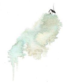 the simple life - print Pen And Watercolor, Watercolor Paintings, Watercolours, Pen And Wash, Abstract Line Art, Classic Paintings, Alcohol Ink Art, Ink Pen Drawings, Pen Art