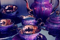 purple tea set - stunning depth of colour