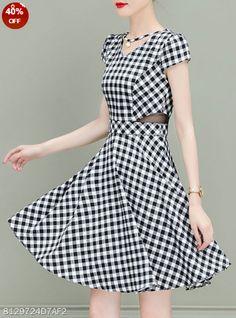 V Neck Beading Skater Dress. Color  Black White black Stripe Size  S M L Xl  ... b0164440580f