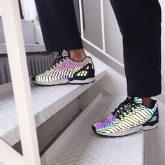 4778fc5aa The new Adidas ZX Flux  Reflective Snake  comes in a matte black with purple