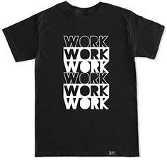 FTD Apparel Men's Work Work Work T Shirt - Large Black