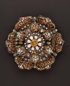 Brooch.   Hungarian-Transylvanian late 16th century.